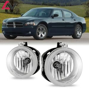 For Dodge Charger 06-09 Clear Lens Pair Bumper Fog Light Lamp OE Replacement DOT