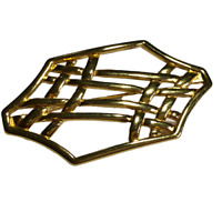 Vintage Monet Gold Tone Signed Brooch / Pin