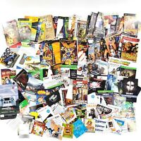 Huge Lot Of Manuals, Booklets, Inserts, Codes, Artwork PlayStation, Xbox, DS