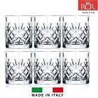 Set of 6X RCR Italian Crystal Melodia Whiskey Glass Gift/Presentation Box 23cl