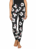 Juniors Disney Mickey Mouse Faces Leggings All-Over Print Stretch Athletic