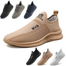 Mens Slip On Walking Sneakers Casual Athletic Running Jogging Tennis Shoes Gym