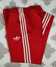 Adidas Originals Trefoil Red Track Pants 3 Stripes Mens sz S Small Joggers VTG
