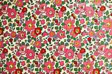 LIBERTY OF LONDON classic Red Betsy J Tana Lawn fabric 100% Cotton Fat Eighth