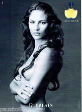 PUBLICITE ADVERTISING 066  2002  Guerlain  parfum Shalimar seins nus