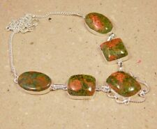 Unkaite & Rhyolite .925 Silver Plated Handmade Necklace Jewelry JC2306