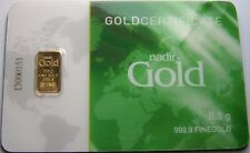 GOLDBARREN - 999 GOLD - IM BLISTER MIT ZERTIFIKAT - ANLAGE OPTION WIE GOLDMÜNZE