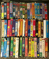Cartoons Kids (Lesser Condition) VHS VCR Video Movie Huge Lot 52 Mixed Christmas