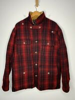 Polo Ralph Lauren XL Hunting Jacket RRL Hunting VTG Red Buffalo Plaid Mackinaw