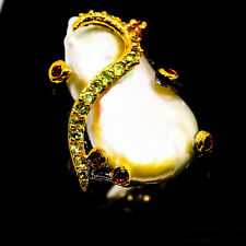 Baroque Pearl 925 Sterling Silver Ring Size 6.75