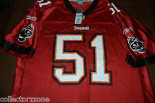 Reebok Barrett Ruud Tampa Bay Buccaneers Replica Red Jersey XL Men 840212e52