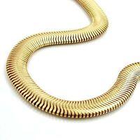 GOLD DOUBLE Schlangenkette Schlange flach Armband Armkette vergoldet 6 mm, 21 cm