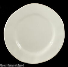"""CRATE & BARREL RUSTIC WHITE ITALY -- (6) 7"""" BREAD PLATES PLATE SET"""