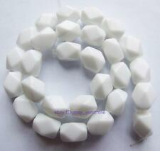 Beautiful 10x14mm Nugget Faceted White China Porcelain Loose Beads 15''