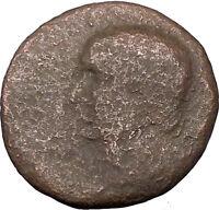 Vespasian 69AD  Macedonian mint Large Rare Ancient Roman Coin Shield  i36223
