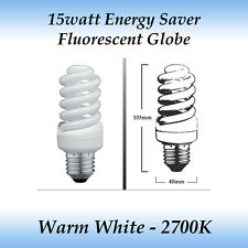 10 x 15 watt Energy Saver Fluorescent Globe Warm White