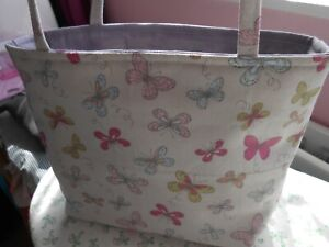 HANDMADE SMALL FABRIC TOTE BAG
