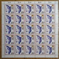 Bund 1388 postfrisch Bogen Tag der Briefmarke BRD 1988 FN 2 Full sheet MNH