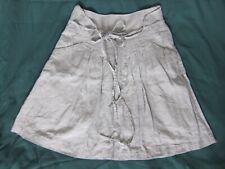 Fat Face beige knee high A line linen lined skirt size 10