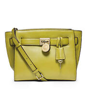 Michael Kors Hamilton Leather Traveler Messenger Shoulder Bag Apple Green - USED