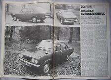 1974 Hillman Avenger 1600 GL Original Motor magazine Road test