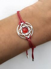 Ladies Red Cord Bracelet / Jewellery / Gift New