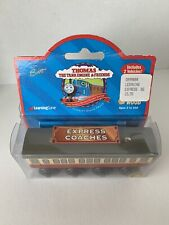 1998 Thomas Train Friends Express Coaches Wooden Railway Brown Label