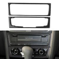 For Audi A4 B8 A5 Q5 B7 2009-2016 2010 Carbon Fiber Console CD Panel Trim Cover