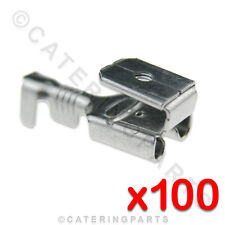 100 x HEAT RESISTANT HIGH TEMP ELECTRIC PIGGYBACK TWIN TERMINAL CONNECTORS 6.3mm