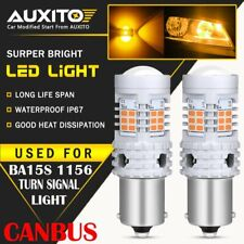 AUXITO Amber 1156 BA15S 1156A LED Turn Signal Lights Anti Hyper Flash Error Free
