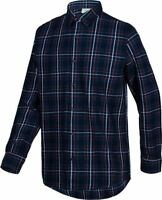 adidas NEO CHECL FLANNEL SHIRT NAVY GREEN XS S L MEN'S LONG SLEEVED