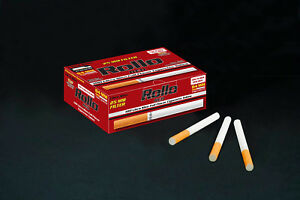 NEW 25mm 1000 ROLLO RED FILTER ULTRA SLIM Tobbacco Cigarrette filter tubes