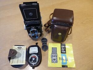 Yashica D TLR 120 film camera + case +instructions +light meter *100% charity*