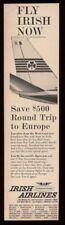 1961 Aer Lingus plane tail pic vintage print ad