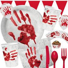 HALLOWEEN DEKO - Blutige Hand - Mottoparty Horror Blut Grusel Schock Party Set