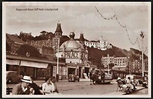 ISLE OF MAN postcard Palace Theatre/cinema, toast rack tram
