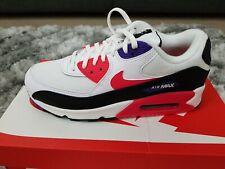 Mens Nike Air Max 90 Essential Raptors White Purple Red Trainers AJ1285 106