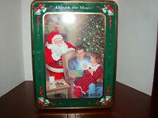 "Oreo Christmas Tin - 1993 - Empty  ""Tinsel and Time"" - Used"