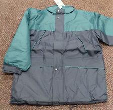 Mens Work Wear Blue Jacket Waterproof Heavy Duty Country Fleece Coat - XL / XXL