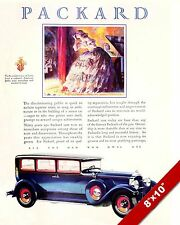 PACKARD MOTORS 1929 CLASSIC AMERICAN MADE CARS PAINTING VINTAGE CAR AD ART PRINT