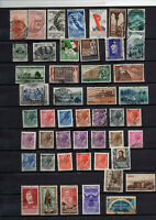 58Timbres Italie années  1952/53