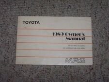 toyota mr2 owners manual in collectibles ebay rh ebay ca 2005 Toyota MR2 Toyota MR2 Spyder