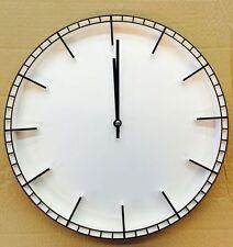 38cm Quarz Wanduhr leise lautlos Bahnhofuhr Uhr Modernuhr Top Modern weiss Neu