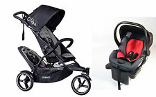 Phil & Teds 2016 Dot V3 Stroller & Double Kit Graphite With Free Alpha Car Seat