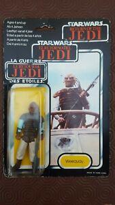 Star Wars Weequy Return of the Jedi ROTJ Tril logo 70 Back MOC Palitoy Jabba