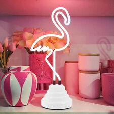 Flamingo Neon Night Light Lamp Lighting Home Bedroom Bar Decor Christmas Gift