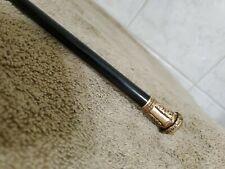 Antique 1880 Rfs&Co Gold Filled Ebony Presentation Cane Walking Stick