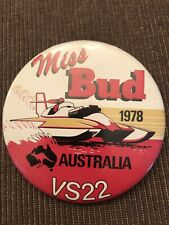 Miss Bud VS22 Australia Unlimited Hydroplane Pin button Seattle Seafair