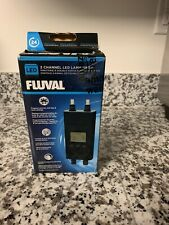 Fluval Digital LED 2 Channel Dual Lamp Timer For Aquarium Light Fixtures
