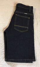 Wrangler Blue Jean Shorts Boys Size 16 Regular Adjustable Waist Dark Denim